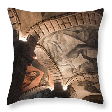 Throw Pillow featuring the photograph Painted Vaults by Lynn Palmer