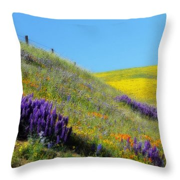 Painted With Wildflowers Throw Pillow