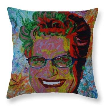 Painterartist Fin Throw Pillow by PainterArtist FIN