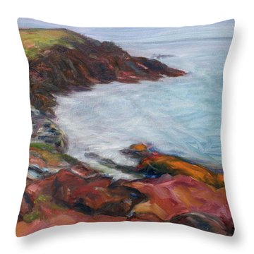 Painterly - Bold Seascape Throw Pillow