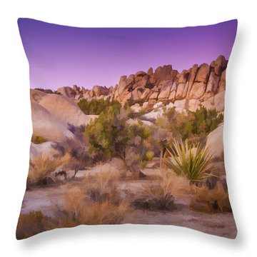 Painterly Desert Throw Pillow