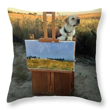 Come Paint With Me  Throw Pillow