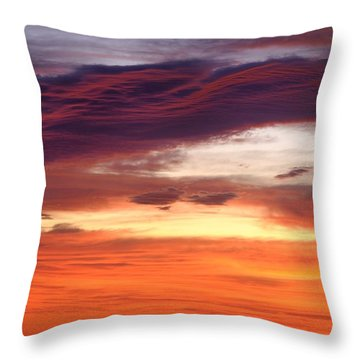 Painterly Sunrise On The Blue Ridge Parkway Throw Pillow