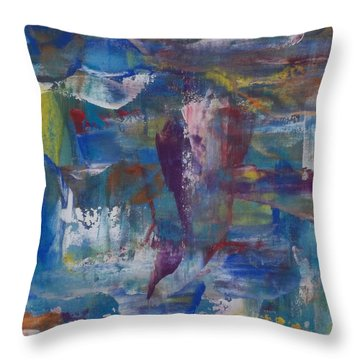Painters Palette Throw Pillow