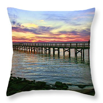 Throw Pillow featuring the photograph Painting My Dreams by Ola Allen