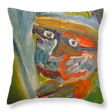Painting Myself Throw Pillow