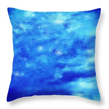 Painting Of Water Background Throw Pillow by Michal Bednarek