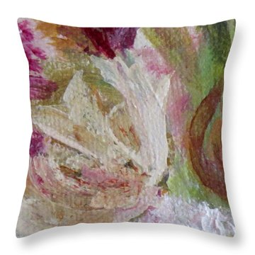 Painting Soft Flowers 2 Throw Pillow by France Laliberte