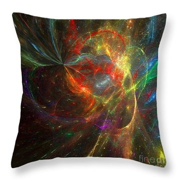 Painting The Heavens  Throw Pillow by Margie Chapman