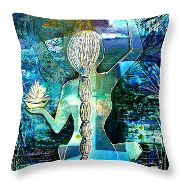 Painting The Moon Throw Pillow