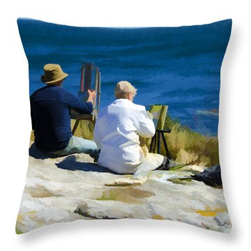 Painting The View Throw Pillow