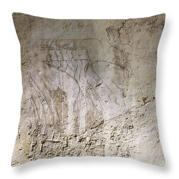 Painting West Wall Tomb Of Ramose T55 - Stock Image - Fine Art Print - Ancient Egypt Throw Pillow