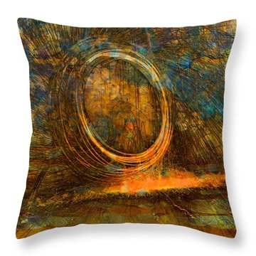 Painting With Fury Throw Pillow