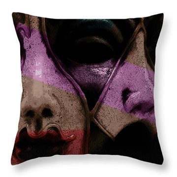 Throw Pillow featuring the digital art Pair by Galen Valle