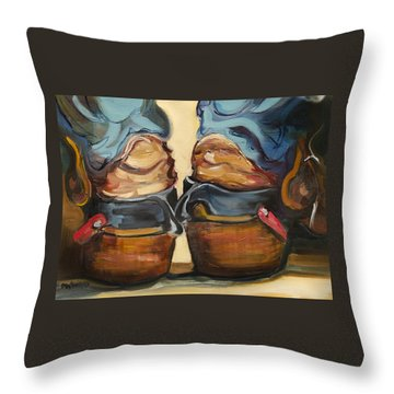 Pair Of Boots Throw Pillow