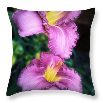 Pair Of Lilies Throw Pillow