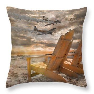 Pairs Along The Coast Throw Pillow by Betsy Knapp