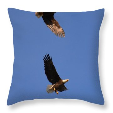 Pairs In Flight And Life Throw Pillow