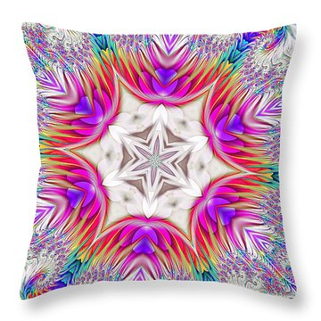 Paisley Love Kaleidoscope Throw Pillow
