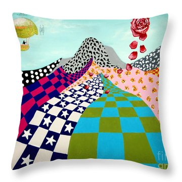 Paisley Mountain Throw Pillow by Tim Townsend