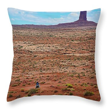 Paiute Road Throw Pillow