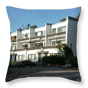 Paivola Building In Sunila Throw Pillow