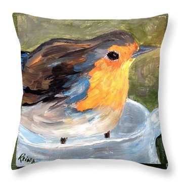 Pajarito  Throw Pillow