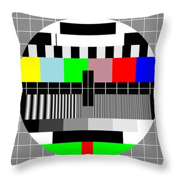 Pal Tv Testing Widescreen Throw Pillow by Saad Hasnain