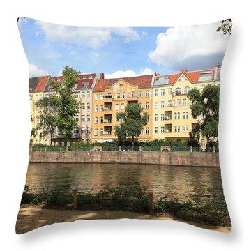 Palace Garden View Throw Pillow by Carol Groenen