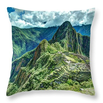Palace In The Sky Throw Pillow