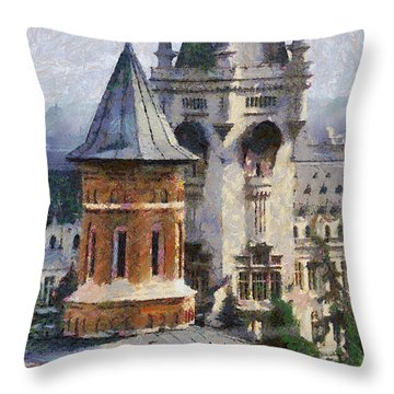 Palace Of Culture Throw Pillow by Jeffrey Kolker