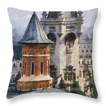 Palace Of Culture Throw Pillow