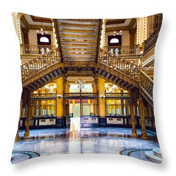 Palacio Postale II Throw Pillow