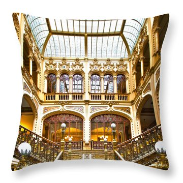 Palacio Postale Throw Pillow