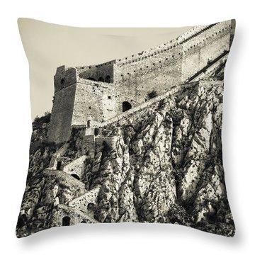 Palamidi Fortress Stairs Throw Pillow