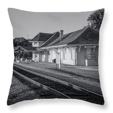 Palatka Train Station Throw Pillow by Lynn Palmer