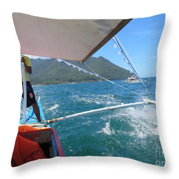 Palawan Islands Throw Pillow