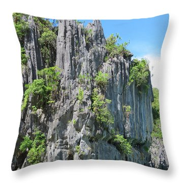 Palawan Rocks Throw Pillow