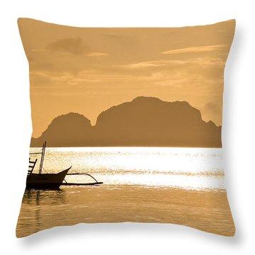 Palawan Sunset Throw Pillow