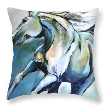 Pale Horse Throw Pillow