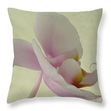 Pale Orchid On Cream Throw Pillow