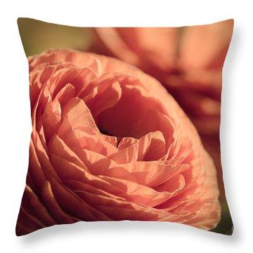 Pale Pink Petals Throw Pillow