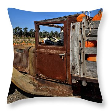 Throw Pillow featuring the photograph Pale Rider by Michael Gordon