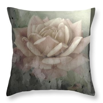 Pale Rose Photoart Throw Pillow by Debbie Portwood