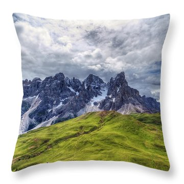 Throw Pillow featuring the photograph Pale San Martino - Hdr by Antonio Scarpi