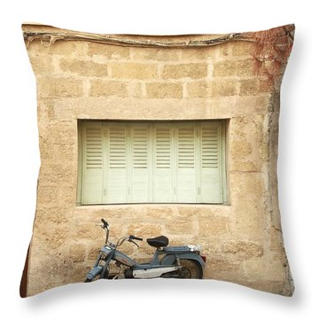 Throw Pillow featuring the photograph Pale Shutters by Colleen Williams