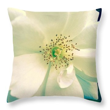Pale White Beauty Throw Pillow