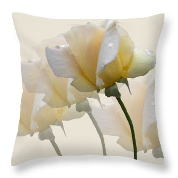 Throw Pillow featuring the photograph Pale Yellow by Rosalie Scanlon
