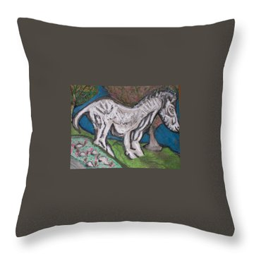 Out There Alone. Throw Pillow