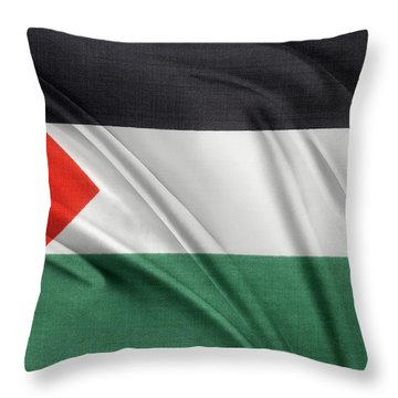 Palestine Flag Throw Pillow by Les Cunliffe